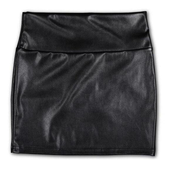Hot Avenue PU Leather Skirt High Waist black - Nahkajäljitelmä hame - Hot Avenue