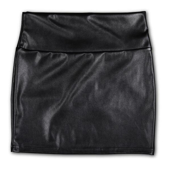 Hot Avenue PU Leather Skirt High Waist black - Nahkajäljitelmä hame - Hot Avenue