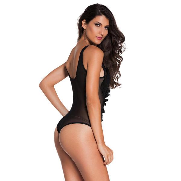 Black Floral Sheer Bodysuit Black - Musta kukka body - Hot Avenue shop pic5