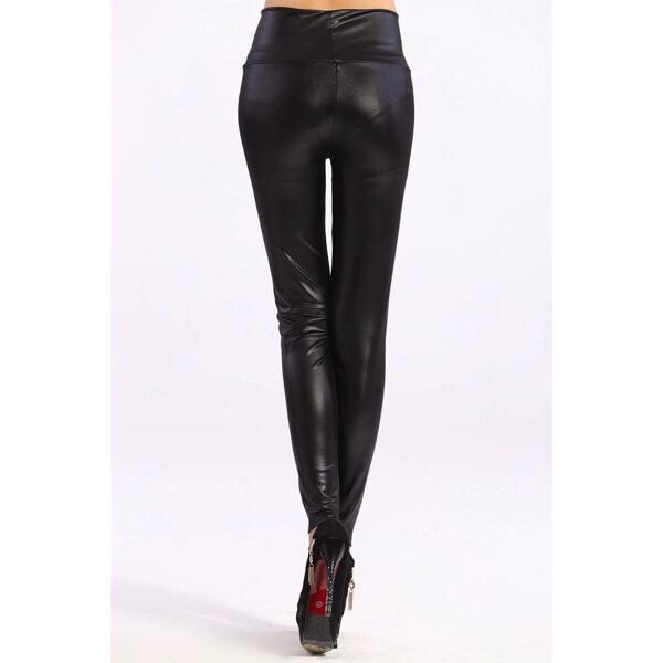 nahka legginsit Vogue - Vogue Black High Waist Faux Leather Zip Leggings - Hot Avenue shop pic4