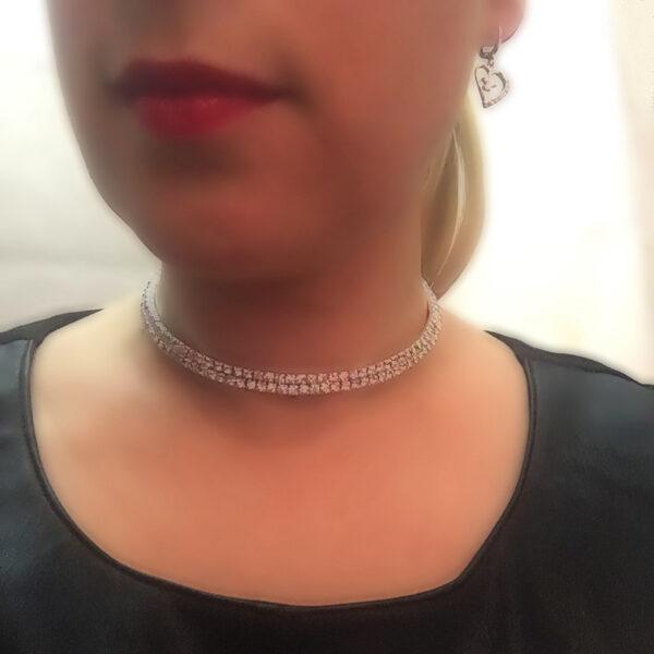 Kristallikaulakoru kapea - Crystal Necklace Narrow pic2 - Hot Avenue shop