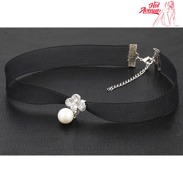 Kaulanauha Kaulakoru Helmi - Choker Necklace Pearl pic2 - Hot Avenue shop