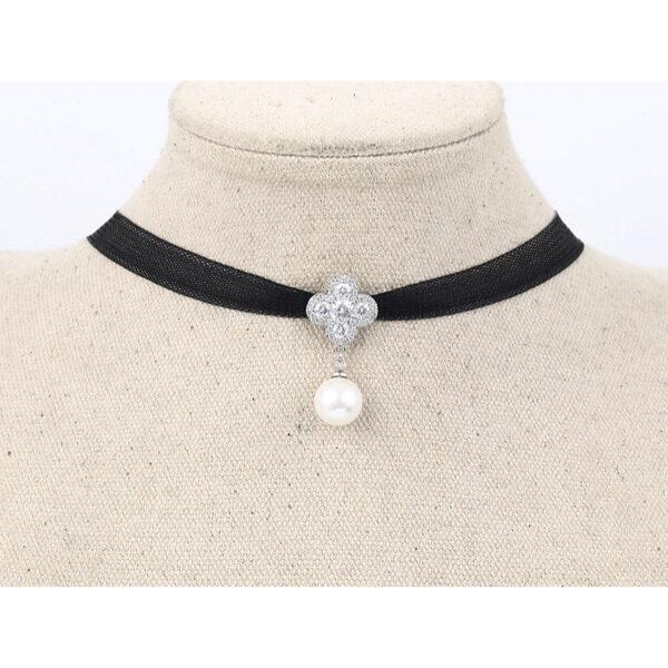 Kaulanauha Kaulakoru Helmi - Choker Necklace Pearl pic4 - Hot Avenue shop