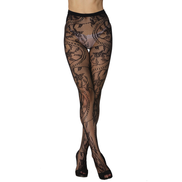 Seksikkäät Verkkosukkahousut - Sexy Charming Floral Pattern Fishnet Pantyhose pic 3 - Hot Avenue Shop