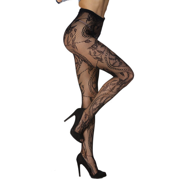 Seksikkäät Verkkosukkahousut - Sexy Charming Floral Pattern Fishnet Pantyhose pic 4 - Hot Avenue Shop