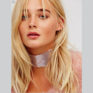 Hopeinen Choker kaulakoru - Silver Choker Necklace pic 2 - Hot Avenue Shop