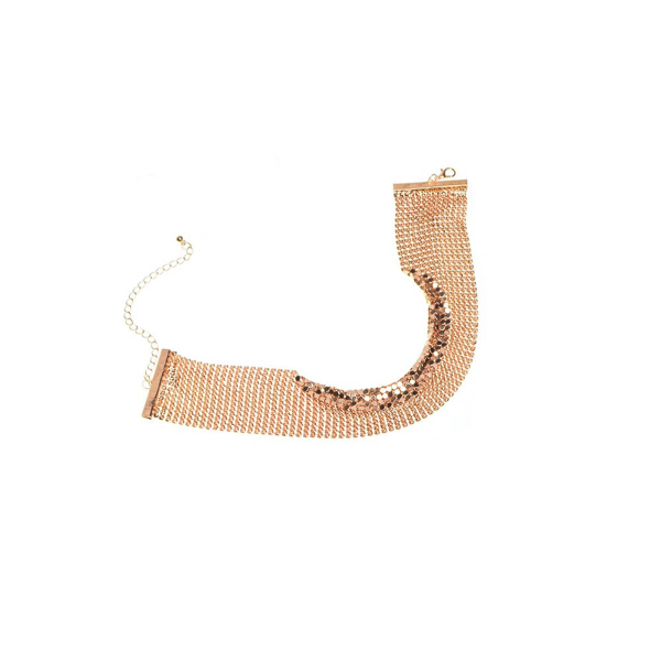Kultainen Choker kaulakoru - Golld Choker Necklace - Hot Avenue Shop