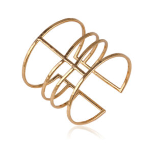 Muodikas Rannerengas Kultainen - Fashion Bangle Gold - Hot Avenue Shop